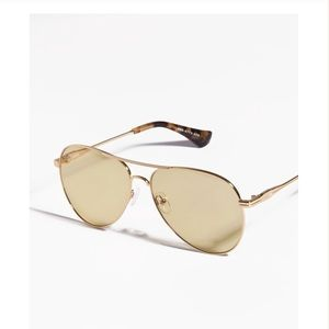 """Sonix """"Lodi"""" yellow frame, gold accent sunnies"""